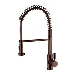 YOSEMITE HOME DECOR - Spring Pull-out Kitchen Faucet - Washerless Cartridge Single Handle Pull out Kitchen Faucet  Finish with 2FT extended hose No pop up drain included Oil Rubbed Bronze