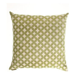 D.V. KAP Home - Volt Green 24 x 24 Decorative Pillow - -24x24 zippered removable cover  -Comes with Feather/Down insert  -Spot or dry clean D.V. KAP Home - 2064-G