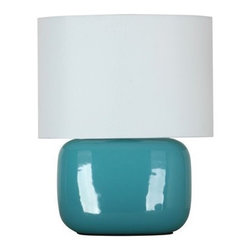 Sea Going Solid Shade Ceramic Lamp - The color on this lamp is not too much, but not too little either. It's the perfect accompaniment to a little side table.