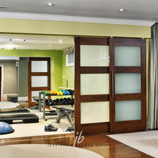 Contemporary Home Gym by Jennifer Brouwer (Jennifer Brouwer Design Inc)