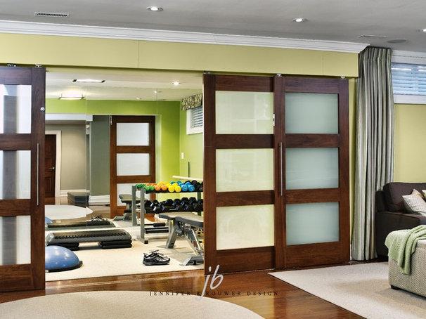 Contemporary Home Gym by Jennifer Brouwer (Jennifer Brouwer Design Inc)