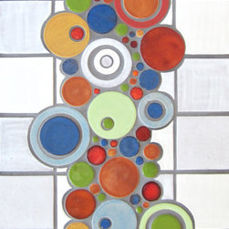 """3""""x3"""" Field Tile with Bubbles - 3""""x3"""" Organic Edge Field Tile - 130 White, 11 Deco White / Bubbles - 658 Tiger Lily, 1078 Key Lime, 23 Sapphire Blue, 1062 Light Kiwi, 1064 Baby Blue, 1054 Cantaloupe, 1023 Butter Toffee, 1072 Baroque Gold, 130 White, 11 Deco White"""