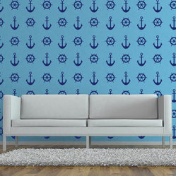 WallStar Graphics - WallStar Graphics Nautical Wall Pattern -