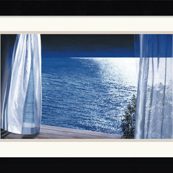 "Amanti Art - Nocturne Framed Print by Alice Dalton Brown - You may not live on the water but you can pretend you do with Dalton Brown's framed print ""Nocturne."" Hang it across from your bed, kick back against the pillows and imagine the waves lapping against the shore."