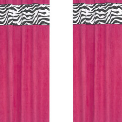 """Sweet Jojo Designs - Pink Zebra Window Panels (Set of 2) - Create a stylish look for your child's room with the Pink Zebra Window Panels (Set of 2).  This set features 2 Window Panels that are 42"""" x 84"""" each."""