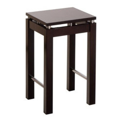 Winsome Wood - Linea Stool with Chrome Accent - With its broad square seat and sleek design, our Linea barstool can add a modern touch to any kitchen. It comes in Dark Espresso Finish with chrome accent.