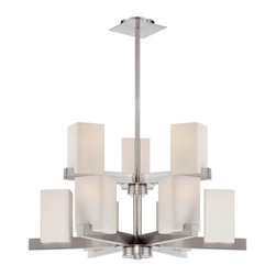 Lite Source - 4 Light Ceiling Lamp - Includes four bulbs. Requires 40 watt JCD type halogen bulbs. UL and CUL listed. Socket type: G9. Frosted glass shade. Chrome color. Shade : 8 in. Dia.. Shade height: 2 in.. Overall: 42 in. L x 8 in. W x 46 in. H (10 lbs.). Assembly Instruction