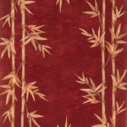 """Kas - Country & Floral Sparta Hallway Runner 2'6""""x10' Runner Red Area Rug - The Sparta area rug Collection offers an affordable assortment of Country & Floral stylings. Sparta features a blend of natural Mocha color. Hand Tufted of 100% Wool the Sparta Collection is an intriguing compliment to any decor."""