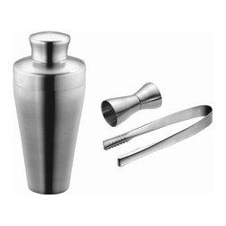 Carl Mertens - Carl Mertens Hampton 25.3 Oz Satin 2 Piece Cocktail Shaker - Features: -Carl Mertens Collection. -High grade 18/10 stainless steel. -25.3 Oz shaker capacity.