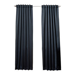 """Best Home Fashion - Solid Backtab Thermal Insulated Blackout Curtains - 1 Pair, Black, 84"""" - Best Home Fashion introduces the new Blackout Curtain. It features innovative fabric construction. Compared to other curtains, our product is extremely SOFT and DRAPERY. The sophisticated designs allow you to decorate your windows with great style. NEVER compare our Blackout Curtains with those cheap ones that are stiff and look like a shower curtain. Blackout is perfect for : Late sleepers Shift workers Seniors Infants & parents Students Computer operators Care instruction : -Machine wash warm with like colors. -Use only non-chlorine bleach when needed. -Tumble dry low. -Warm iron as needed"""