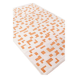 Jaipur Rugs - Machine Made Lustrous Finish Art Silk/Chenille Ivory/Orange Area Rug (5 x 7.6) - Every design tells a story with the Fables Collection. This broad range, crafted in machine-tufted viscose & ultra-soft chenille, brings any space to life with its fashion-forward color palettes. With options suited to many styles and aesthetics, Fables brings together a diverse collection of patterns ranging from sophisticated transitional to boldly scaled contemporary.