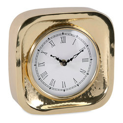 iMax - Essentials Celebrations Gold Clock - Times spent with family and friends are precious. A nod to the halcyon days of memory symbolized in gold and white, the Essentials clock from the celebrations collection by Connie Post is a reminder to slow down and savor every moment.