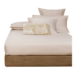Howard Elliott - Coco Topaz King Boxspring Cover - The boxspring cover works as a fitted bed skirt. Golden topaz brown cover provides the perfect base for your fits most standard size boxspring mattresses.