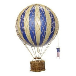 AAuthentic Models Travels Light Hot Air Balloon Model, Blue - For a classically styled nursery, nothing can compete with this beautiful hot air balloon model hanging in the corner. I can't decide if I like the blue or the red one the best.