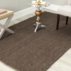 Safavieh - Safavieh Hand-woven Weaves Brown Fine Sisal Rug (6' x 9') - The cool,casual attitude of this hand-woven brown sisal area rug is an easy companion to contemporary informal furnishings as well as rooms with cottage,global,or tropical themes. The 100 percent jute offers a natural,nubby texture and color.