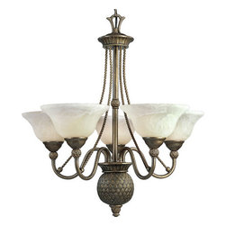 Progress Lighting - Progress Lighting P4278-EB Savannah Five Light Single-Tier Up Lighting Chandelie - Features: