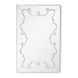 Zuri Furniture - Gotham Baroque Style Contemporary Mirror - Bring the style and elegance of the Gotham modern mirror into your home. With its beautiful baroque accented details and unique styling, it will make any room pop!