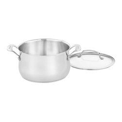 Cuisinart - Cuisinart Contour Stainless Steel 5-Quart Dutch Oven - Stainless steel surface doesn't react with food or alter flavors, the most elegant and efficient cooking material