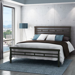 None - Amisco Highway Full Size Metal Headboard and Footboard 54-inch - The Highway basic bed matches any style room. The sleek square pattern provides modern look and peaceful elegance. The Highway Bed is simply beautiful from head to toe!