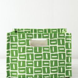 Printed Canvas Storage Bins, Green Bean Blocks - Get organized with Garnet Hill's printed storage bins and add a pop of color to the room at the same time.