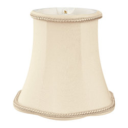 """""""Royal Designs, Inc"""" - 5"""" Decorative Trim Scallop Bell Chandelier Lampshade - """"This 5"""" Decorative Trim Scallop Bell Chandelier Lampshade is a part of Royal Designs, Inc. Timeless Chandelier Shade Collection and is perfect for anyone who is looking for a simple yet stunning lampshade. Royal Designs has been in the lampshade business since 1993 with their multiple shade lines that exemplify handcrafted quality and value."""