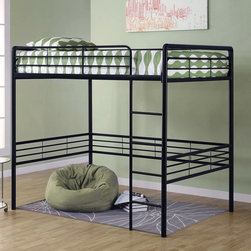 Dorel Home - DHP Gates Full Loft - 5472096 - Shop for Bunk Beds from Hayneedle.com! Create your own space below the DHP Gates Full Loft. Whether you're looking for a space to study relax or just hang out this full loft bed provides you with plenty of space below. Designed to save space this full-sized bed is a great choice for your tween or teen. Available in your choice of finish so you can easily match any decor this loft bed is strong durable and made to last. Its contemporary design is sure to please or you can choose a classic bedding a beautiful contrast design. Made to meet ASTM and CPC safety specifications this bed has a built-in ladder and guardrails for added safety.Additional FeaturesNo box spring requiredIncludes metal bed slatsGuardrails on both sides for added safelySome assembly requiredDurable construction designed to lastAbout Dorel IndustriesFounded in 1962 Dorel Industries is a family of over 26 brands including bicycle brands Schwinn and Mongoose baby lines Safety 1st and Quinny as well as home furnishing brands Ameriwood and Altra Furniture. Their home furnishing division specializes in ready-to-assemble pieces including futons microwave stands ladders and more. Employing over 4 500 people in 17 countries and over four continents Dorel is renowned for their product diversity and exceptionally strong commitment to quality.