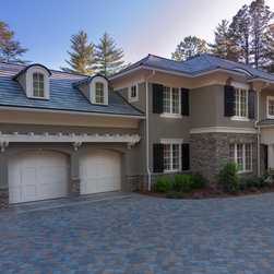 Carriage House Painted Garage Doors - This beautiful painted garage door by Carriage House can be custom installed by Automatic Door Specialists to enhance the beauty of your home. The photos are by Carriage House Garage Doors