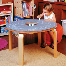 Offi Chalkboard Table - Who needs paper, crayons, markers and stickers when the table top is a chalkboard? This stylish kids table will provide hours of fun, and it's top will change on a daily basis with your child's art proudly displayed on top!