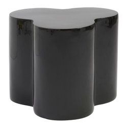 Eurostyle - Eurostyle Sloan Accent Stool in High Gloss Black - If you tried to turn a Rubic's Cube into a set of stools they might look something like this. Clustered together they make a great, modern splash of color. Separately, they're three cylindrical columns gracefully molded into a singular high gloss fiberglass seat. What's included: Decorative Stool (1).