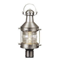 Exteriors - Exteriors Nautical Transitional Outdoor Post Lantern Light X-82-511Z - From the Nautical Collection, this Craftmade outdoor post lantern light features a maritime inspired design with eye-catching details that are sure to please. This unique design will effortlessly compliment a number of different architectural styles including bungalows, ranch homes and traditional colonials. The frame is available in multiple finishes and features a clear glass shade to pull the look together.