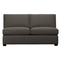 Davis Armless Sectional Full Sleeper Sofa - Davis is a contemporary compact sectional sleeper designed for contemporary real life. Every imaginable configuration is possible between these modular pieces and the companion stand-alone pieces, all with firm but plump support. Understated hardwood legs come in a variety of finish options.