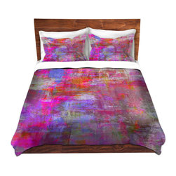 DiaNoche Designs - Duvet Cover Microfiber Twin - DiaNoche Designs by Julia Di Sano - Sweet Talker - DiaNoche Designs works with artists from around the world to bring unique, artistic products to decorate all aspects of your home.  Super lightweight and extremely soft Premium Microfiber Duvet Cover (only) in sizes Twin, Queen, King.  Shams NOT included.  This duvet is designed to wash upon arrival for maximum softness.   Each duvet starts by looming the fabric and cutting to the size ordered.  The Image is printed and your Duvet Cover is meticulously sewn together with ties in each corner and a hidden zip closure.  All in the USA!!  Poly microfiber top and underside.  Dye Sublimation printing permanently adheres the ink to the material for long life and durability.  Machine Washable cold with light detergent and dry on low.  Product may vary slightly from image.  Shams not included.