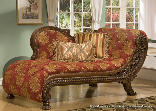 Traditional Indoor Chaise Lounge Chairs by Alcove Decor and Furniture