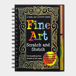 Fine Art Scratch and Sketch - Leave it to MoMA to make sure the arts are covered for kids. This sketch and activity book guides kids in recreating works of the masters. I'd have loved this myself as a kid. Heck, I'd still love it.