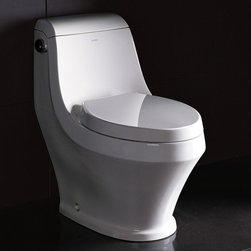 "Atlas International Inc - Toilet - Ariel Platinum Contemporary One Piece ""Adonis"" (White) - Modern Eco-Friendly One Piece White toilet. Ariel cutting-edge designed one-piece toilets with powerful flushing system. It's a beautiful, modern toilet for your contemporary bathroom remodel."