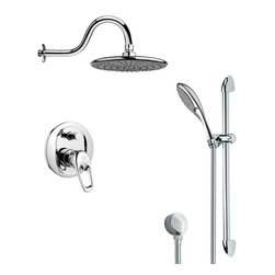 Remer - Sleek Polished Chrome Rain Shower Faucet Set - Multi function shower faucet.