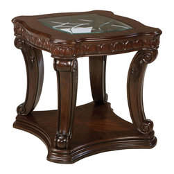 Standard Furniture - Standard Furniture Churchill End Table in Cherry - Magnificent details give Churchill a grand and stately character that's sure to create a stunning traditional setting.