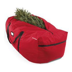 Grandin Road - Tree Storage Bag - Sturdy bag fits a 6 ft. to 9 ft. artificial tree. For a 12 ft. tree, use two together. Made from sturdy red polyester. Embroidered with the Grandin Road logo. Pack away the celebration with care. Protect your tree, garland, and more, in our heavy-duty and lightweight storage bag.. . . .