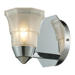 ELK Lighting - ELK Lighting 11390/1 Deco Polished Chrome Wall Sconce - ELK Lighting 11390/1 Deco Polished Chrome Wall Sconce