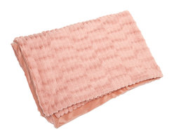 Gemma Faux Fur Throw - In a blushing pink hue, the faux fur Gemma throw adds a soft touch of color to any home.