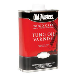 Old Masters / Master Products - 50501 1 Gallon Tung Oil Varnish - TUNG OIL VARNISH  Blend of Tung oil and varnishes  Penetrates surface  Durable, hand-rubbed finish  Long-lasting            50501 1G TUNG OIL VARNISH  SIZE:1 Gal.