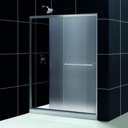 """DreamLine - DreamLine DL-6972R-01FR Infinity-Z Shower Door & Base - DreamLine Infinity-Z Frameless Sliding Shower Door and SlimLine 34"""" by 60"""" Single Threshold Shower Base Right Hand Drain"""