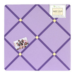 Sweet Jojo Designs - Daisies Fabric Memo Board - The Daisies Fabric Memo Board with button detail is a great way to display photos, notes, and postcards on your child's wall. Just slip your mementos behind the grosgrain ribbon to create an engaging piece of original wall art. This adorable memo board by Sweet Jojo Designs is the perfect accessory for the matching children's bedding set.