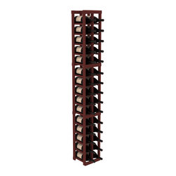 Wine Racks America - 2 Column Magnum/Champagne Cellar Kit in Redwood, Cherry - Easy to expand or add to an existing cellar, this Magnum wine racking kit is designed for ultimate flexibility. Our specialized magnum rack accommodates 2 whole cases of abnormally shaped bottles, and then some! We promise this rack will stand up to the test of time.