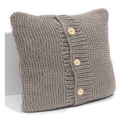 Chunky Knit Accent Pillow - Sweaters will not be safe anywhere once everyone sees this cute pillow.  What a fun look for a teen's room or any casual decor.