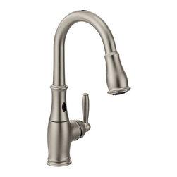 Moen 7185ESRS Brantford Single Handle Kitchen Faucet With Reflex Pullout Spray a -