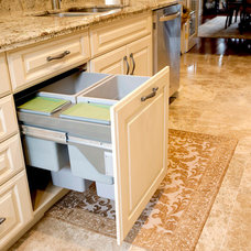 Kitchen Trash Cans by Rocpal Custom Cabinets and Woodworking Ltd.