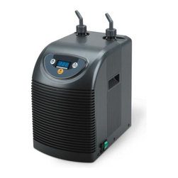 "Aqua Euro - 1/13 HP Aquarium Chiller - Digital LCD Display. High BTU rating (heat removal). Titanium heat exchanger. Quiet operation-rubber mounts reduce vibration. Powerful compressor. Uses DuPont R134a ozone friendly Freon. Includes fittings and instructions for easy set up. 1/2"" Inlet/Outlet Fittings. 8.5 in. W x 13.3 in. L x 16.5 in. HTitanium Chillers for use with Freshwater & Saltwater Aquariums. High quality, durable, reliable and ultra compact design."