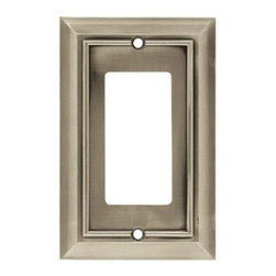 Liberty Hardware - Liberty Hardware 64176 Architectural WP Collection 3.15 Inch Switch Plate - A simple change can make a huge impact on the look and feel of any room. Change out your old wall plates and give any room a brand new feel. Experience the look of a quality Liberty Hardware wall plate. Width - 3.15 Inch, Height - 4.9 Inch, Projection - 0.2 Inch, Finish - Satin Nickel, Weight - 0.23 Lbs.