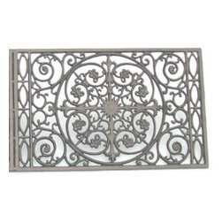 Door Mat Single Steel - A functional accent to the front stoop, is beautifully crafted cast steel. Greet guests with the finest decor on your threshold.